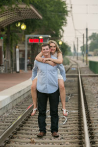 Engagement Photography at Haggard Park in Plano Texas